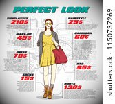 fashion infographic with model... | Shutterstock .eps vector #1150737269