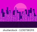 retro futuristic city in the... | Shutterstock .eps vector #1150738193