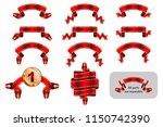 solemn gift ribbon  winning... | Shutterstock .eps vector #1150742390