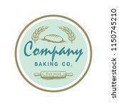 emblem of baking bakery logo... | Shutterstock .eps vector #1150745210