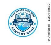 emblem logo coastal soccer | Shutterstock .eps vector #1150745630