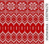 winter sweater fairisle design. ... | Shutterstock .eps vector #1150746170