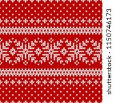 winter sweater fairisle design. ... | Shutterstock .eps vector #1150746173
