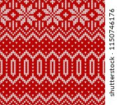 winter sweater fairisle design. ... | Shutterstock .eps vector #1150746176