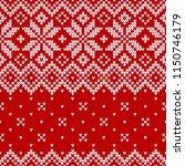 winter sweater fairisle design. ... | Shutterstock .eps vector #1150746179