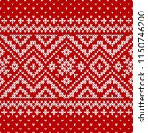 winter sweater fairisle design. ... | Shutterstock .eps vector #1150746200