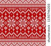 winter sweater fairisle design. ... | Shutterstock .eps vector #1150746203