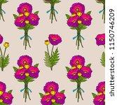poppy seamless pattern. floral... | Shutterstock .eps vector #1150746209