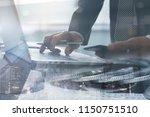 risk management  business... | Shutterstock . vector #1150751510