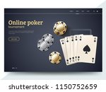 online poker tournament landing ... | Shutterstock .eps vector #1150752659