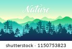 silhouettes coniferous forest... | Shutterstock .eps vector #1150753823