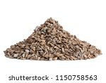 pile of gravel on white... | Shutterstock . vector #1150758563