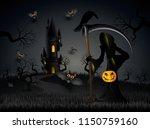 halloween party bats flying in...   Shutterstock .eps vector #1150759160