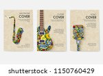 set of musical ornament... | Shutterstock .eps vector #1150760429