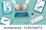 vector illustration of a doctor ... | Shutterstock .eps vector #1150766573