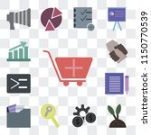 set of 13 simple editable icons ... | Shutterstock .eps vector #1150770539