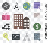 set of 13 simple editable icons ... | Shutterstock .eps vector #1150770689
