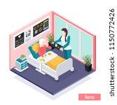 elderly people nursing home... | Shutterstock .eps vector #1150772426