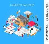 garment factory isometric... | Shutterstock .eps vector #1150772786