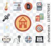 set of 13 simple editable icons ...   Shutterstock .eps vector #1150778393