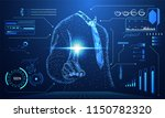 abstract technology concept... | Shutterstock .eps vector #1150782320