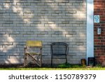 outdoors smoking area at an old ... | Shutterstock . vector #1150789379
