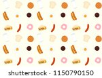 breakfast pattern background | Shutterstock .eps vector #1150790150