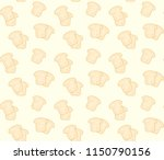 bread pattern background | Shutterstock .eps vector #1150790156