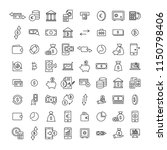 set of money thin line icons.... | Shutterstock .eps vector #1150798406