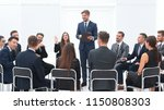 coach leads the session with...   Shutterstock . vector #1150808303