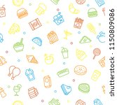 junk food seamless pattern... | Shutterstock .eps vector #1150809086