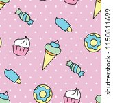sweets seamless pattern | Shutterstock .eps vector #1150811699