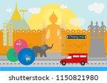 flat style design of chiangmai... | Shutterstock .eps vector #1150821980