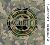bachelor on camo texture | Shutterstock .eps vector #1150825943