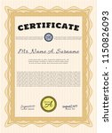 orange awesome certificate... | Shutterstock .eps vector #1150826093