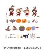 big set of halloween icons ... | Shutterstock .eps vector #1150831976