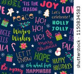 colorful fun typography with... | Shutterstock .eps vector #1150834583