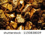 pure gold ore isolated on white ... | Shutterstock . vector #1150838039