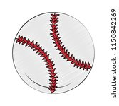 baseball ball isolated scribble | Shutterstock .eps vector #1150842269