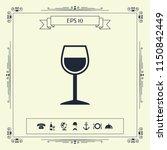 wineglass symbol icon | Shutterstock .eps vector #1150842449