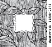 hand drawn  frame. floral... | Shutterstock . vector #1150842893