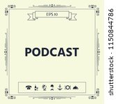 podcast   icon for web and... | Shutterstock .eps vector #1150844786