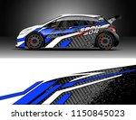 rally and drift car wrap design ... | Shutterstock .eps vector #1150845023