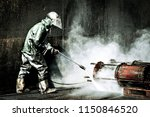 high pressure cleaning in the... | Shutterstock . vector #1150846520
