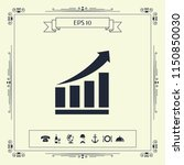 growing bars graphic icon with... | Shutterstock .eps vector #1150850030