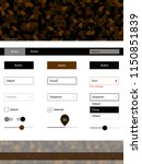dark brown vector wireframe kit ...