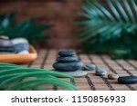 pyramids of gray zen stones... | Shutterstock . vector #1150856933