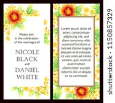 romantic wedding invitation... | Shutterstock . vector #1150857329
