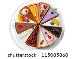 Twelve Different Pieces Of Cak...