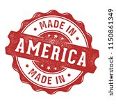 made in america stam label | Shutterstock .eps vector #1150861349